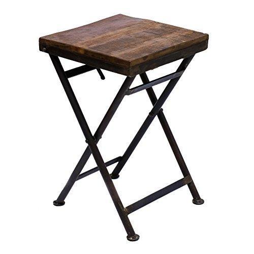 Klapptisch Beistelltisch Hocker Holz Eisen massiv Gartentisch Balkontisch stabil vintage rustikal  BRILLIBRUM FLYER Hocker klein Geschenke Für Ostern Geschenkidee