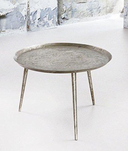 MSZ Design Beistelltisch ZIL Ø 57 cm Silber Antik Look