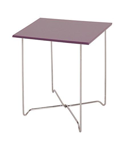 Haku Nachttisch BZW Beistelltisch Maße BTH in cm 40 x 40 x 51 in Chrom-Brombeer
