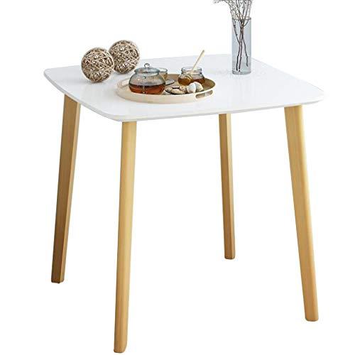 DNSJB Runder Balkon Kleiner Couchtisch Esszimmer Wohnzimmer multifunktionale einfachen Massivholz runden Tisch Schreibtisch Kinder kleinen Tisch Farbe  Weiß größe  80  80  74cm
