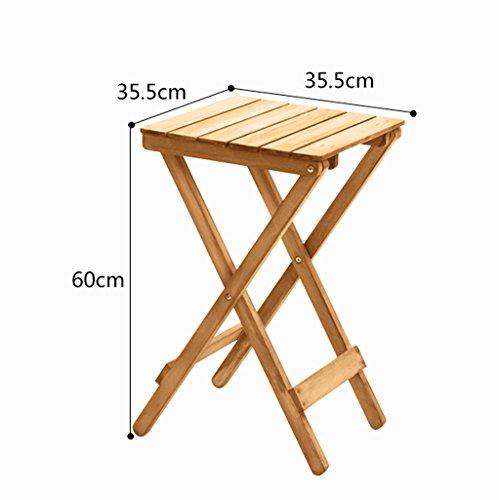 HJ Blumenständer Yxsd Einfaches Holz Wohnzimmer Balkon Klapptisch Couchtisch im Freien Kleine Tabelle Farbe  Weiß