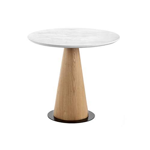 XIAOLVSHANGHANG CJ Holz Round Sofa Table Nordic Couchtisch Round Table Sofa Table Kleine Wohnung Wohnzimmer Balkon Couchtisch Farbe  Weiß größe  45  50cm