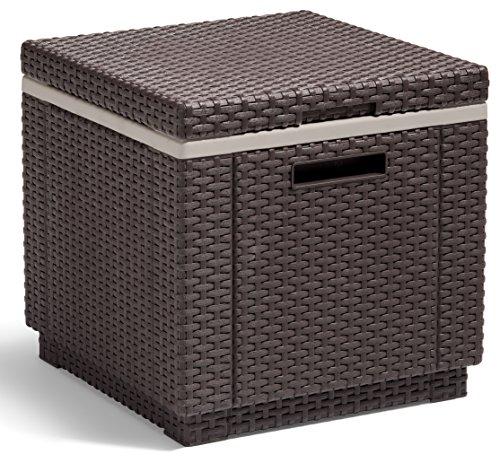 Allibert BeistelltischKühlbox Ice Cube 40 Liter braun