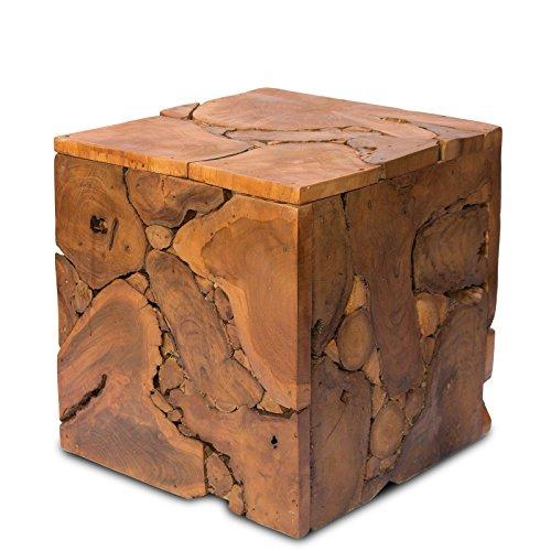 Nachttisch Beistelltisch Couchtisch Ablagetisch ca 40x40 cm Mosaik Natur Holz