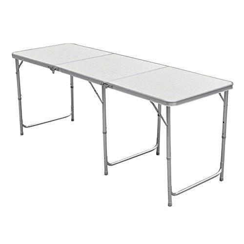 Lospu HY Aluminium Klapptisch Campingtisch 180cmx60cm Gartentisch Beistelltisch Falttisch Picknicktisch Alutisch faltbar 18M
