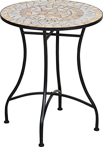 TrendLine Tisch Provence Mosaik Gartentisch 60 cm Beistelltisch Terrassentisch