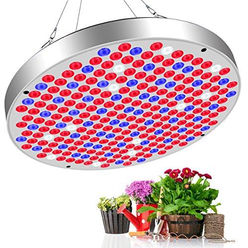 Vivibel 50W LED Pflanzenlampe 250LEDs178 Stück roten LEDs  60 Stück blauen LEDs  12 Stück Weiß LEDs Vollspektrum Pflanzenlicht Pflanzenleuchte Wachsen Lampe Grow Light für alle Zimmerpflanzen