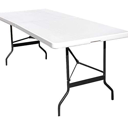 Deuba Campingtisch Gartentisch Klapptisch Falttisch Faltbarer Tisch Campingmöbel Markttisch Flohmarkttisch Koffertisch 183x72x76cm