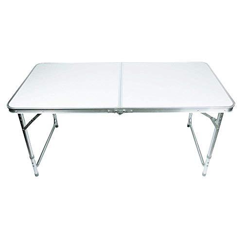 Lospu HY Portable Campingtisch aus Aluminium Gartentisch Höhenverstellbarer Klapptisch Koffertisch praktisches Kofferformat 12M