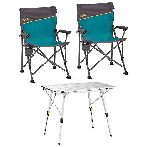 Uquip Bloody Campingmöbel Set 3-TLG Campinggarnitur mit Falttisch  2X Campingstuhl