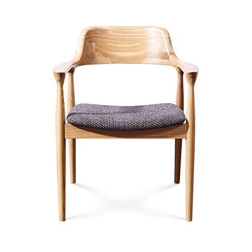 Wly&Home Vollholz-Esstisch Lässiger Kaffee Stuhl Stylischer Aschen Schreib Stuhl Handgehaltenes Schiefe Holz