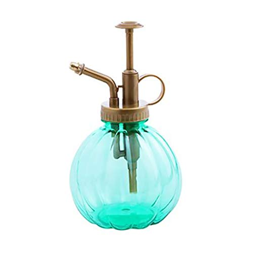 Ndier Mini Betriebsherr Vintage Style Dekorative Glas Wasser Spray Flasche mit Top Pump Kleiner Gießkanne für Indoor Topfpflanzen 1Pc Grün homedecor