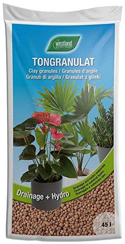 Westland Ton-Granulat für alle Topfpflanzen Grün- und Blühpflanzen Ton-Farbe 45 Liter