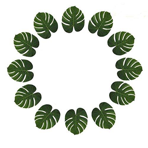 Xuxuou Künstliche Deko Blumen Gefälschte Blumenstrauß Künstliche Pflanze Blätter Grüne Pflanze Topfpflanze Hochzeitsblumenstrauß für Haus Garten Party Blumenschmuck Size 40  30  30CM