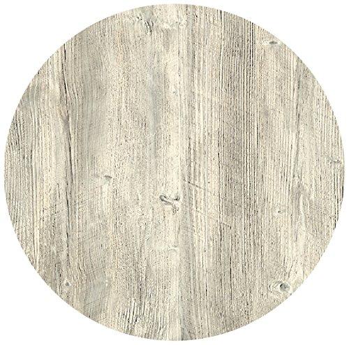 Werzalit Tischplatte Dekor Ponderosa Weiß 60 cm rund Wetterfest Ersatztischplatte Bistrotisch Stehtisch Tisch Gastronomie