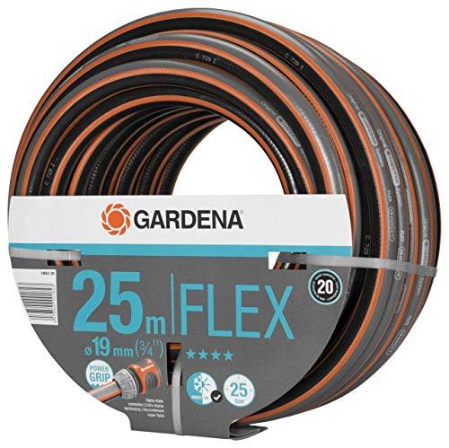 GARDENA Comfort FLEX Schlauch 19 mm 34 25 m Formstabiler flexibler Gartenschlauch mit Power-Grip-Profil aus hochwertigem Spiralgewebe 25 bar Berstdruck ohne Systemteile 18053-20