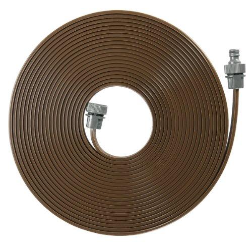 GARDENA Schlauch-Regner Feiner Sprühregner für die Bewässerung länglicher schmaler Zonen Länge 15 m anschlussfertig ausgestattet braun individuell verkürz- oder verlängerbar 1999-20