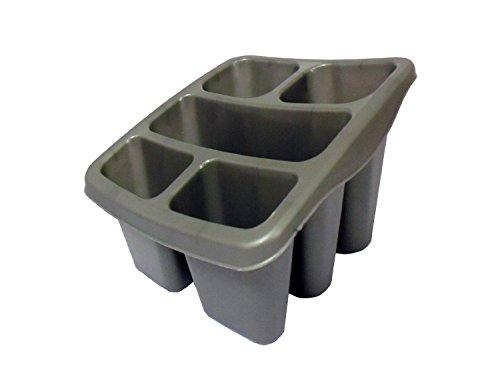 Whitefurze Abtropfbehälter für Besteck Kunststoff Silber