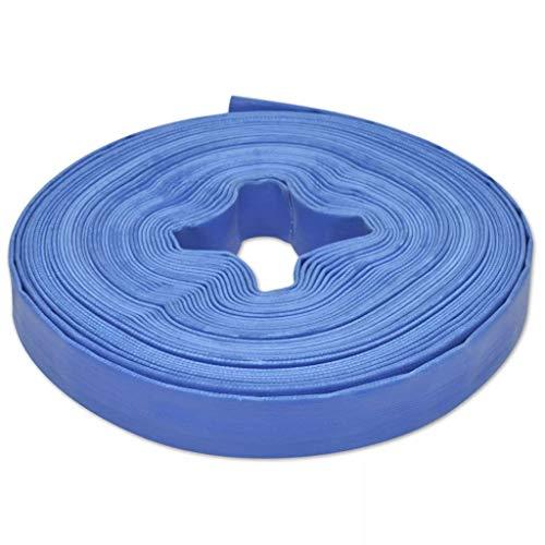 Festnight 25m Flexibler PVC Wasser Schlauch Flachschlauch Wasserschlauch Gartenschlauch Durchmesser 1 Zoll