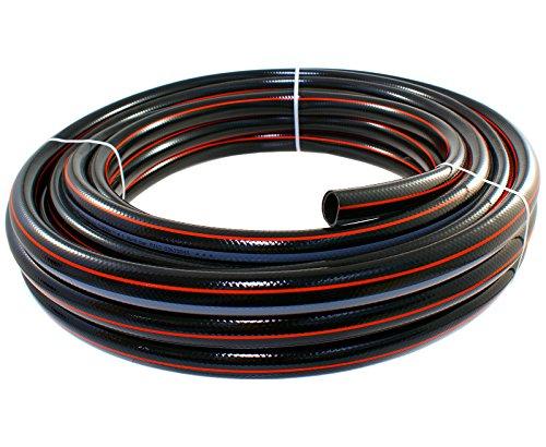 Gartenschlauch 1 Zoll 50 Meter  Wasserschlauch Schlauch Bewässerung Qualitätsschlauch schwarz - ohne Systemteile