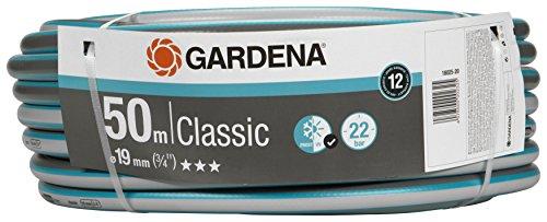GARDENA Classic Schlauch 19 mm 34 50 m Universeller Gartenschlauch aus robustem Kreuzgewebe 22 bar Berstdruck UV-beständig ohne Systemteile verpackt 18025-20