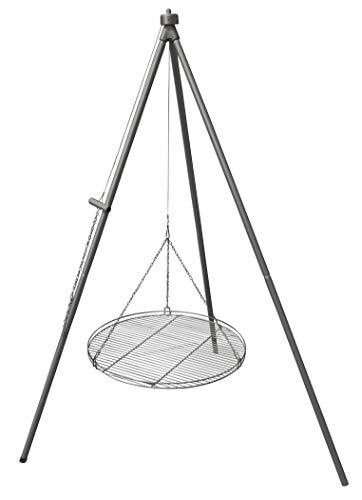 Huber Grillgeräte Dreibein Schwenkgrill Luxus mit 70 cm Edelstahlrost