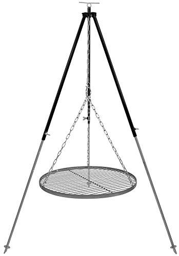 Schwenkgrill Dreibein 18 m Kettenhöhenverstellung mit Grillrost Edelstahl 50 cm