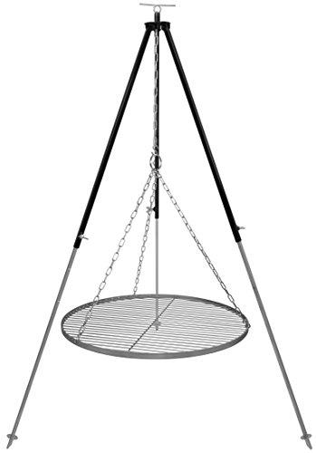 Schwenkgrill Dreibein 18 m Kettenhöhenverstellung mit Grillrost Edelstahl 60 cm