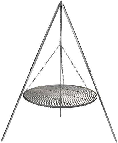 Schwenkgrill Grillrost Edelstahl 80 cm Durchmesser Dreibein 210 m verzinkt