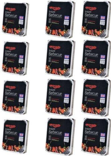 12 X Bar-Be-Quick-Schnell Grill-Packs Jede Packung Feeds zu 4 Personen-Welt beste Marke führenden Einweg-Grill