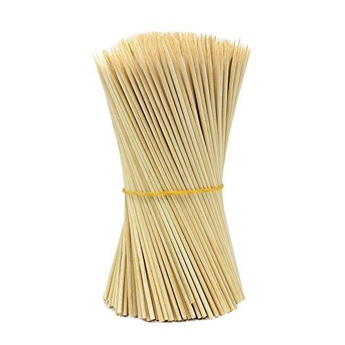 Lumanuby 90 x Holz Grillspieße Marinaden Sticks Einweg-Grill Utensilien Bambus Party Sticks Perfekt für BBQ Fleisch Steaks Vieles Mehr 30 cm