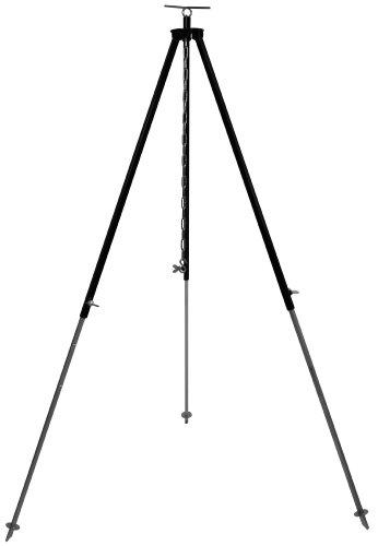 Grillplanet Dreibein Gestell für Gulaschkessel und Schwenkgrill ca 130 cm mit Kettenhöhenverstellung