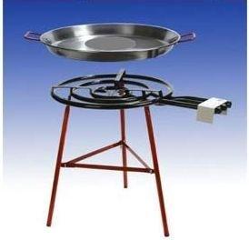 Paella Grillset Carmona mit 3-flammigem 60cm Gasbrenner 245 KW 80cm Pfanne verstärkte Füsse incl Schlauch und Druckminderer