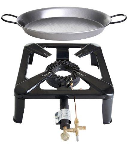 Paella World International Gaskocher Hockerkocher-Set 4 mit Paella-Pfanne Mehrfarbig 2-teilig