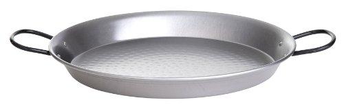 Paella World International Polierte Stahl Paella-Pfanne Silber Ø 55 cm