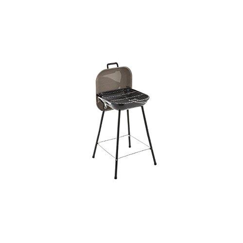Picknickgrill - tragbarer Holzkohlegrill aus Stahl - TAUPEGRAU