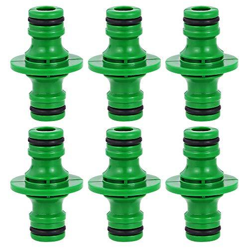 BUZIFU 6 Stück Schlauchverbinder 12 Zoll Schlauchkupplung Kunststoff Schlauchverbindung für Gartenschlauch Schlauch Rohr Grün