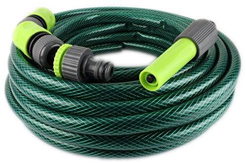 GYD 5tlg Premium Gartenschlauch 15 Meter Bewässerungsschlauch Gartenschlauch Grün  Zubehör Set