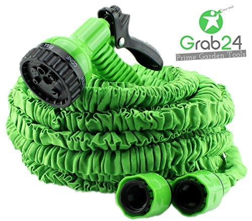 GYD Gartenschlauch Set Bewässerungsschlauch Automatik-Flexibler-Gartenschlauch 15m ausgedehnt grün
