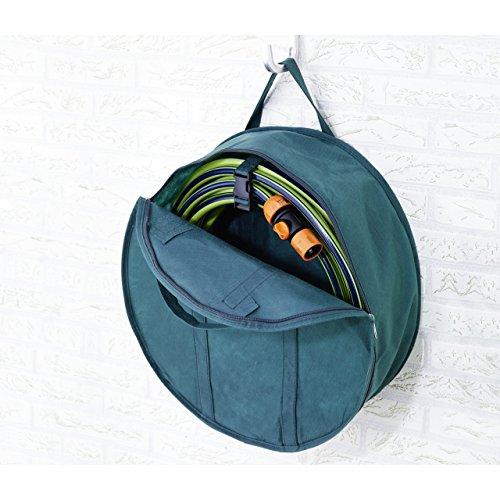 Gartenschlauch Garage Aufbewahrungs-Tasche 4516cm mit Halterung Textil grün