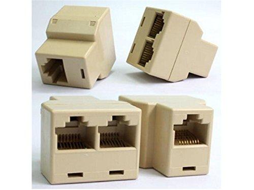 Plsonk Hausbedarf RJ45 Cat 5 LAN Ethernet Splitter Stecker Adapter Netzwerk Konverter Steckdosen Startseite Accesserios