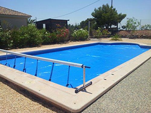 International Cover Pool Aufroller Pool Abdeckung Solarfolie Schwimmbad max 42 Meter Edelstahl und Aluminium Mit Minderer Kraft