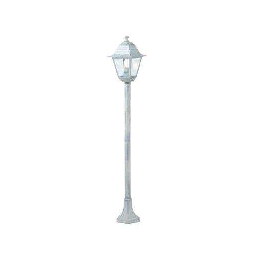 Straßenlaterne mit Säule Old Struktur aus druckgegossenem Aluminium Abdeckung Lampenfassung von Aluminium in Uni Korrosionsschutz epoxidpulverbeschichtung Geeignet für Glühlampen und energiesparend Sockel E27 IP43