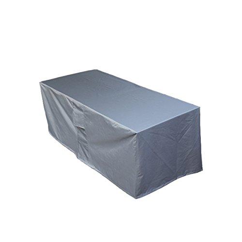 PATIO PLUS Schutzhülle für rechteckig GartentischWetterschutzhülle für eckige Tische Sofa Liege Stühle Wasserdichtes Atmungsaktives Oxford-Gewebe Gartenmöbel Abdeckung(170x95x70cm,Anthracite)