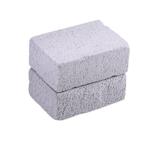 BESTONZON 2Pcs Grill-Reinigungs-Stein-ökologisches geruchloses Grillen Stein-Reiniger-Bimsstein-Grill-Block für das Säubern der Grills oder der Bratpfannen Wiederverwendbare Entkalkung Stones