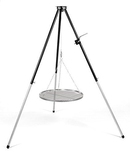 Hero Dreibein Schwenkgrill mit Kurbel Edelstahl Grillrost 80 cm