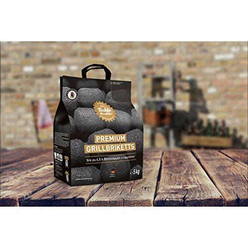 Die Kohle Manufaktur Premium Grillbriketts 1 x 5 kg long tasting