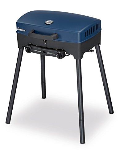 Enders BBQ Camping-Gasgrill EXPLORER 2090 Funktionen Grillen Kochen und Backen 2 Gas Edelstahl-Brenner kleiner Grill für Balkon Picknick Camping
