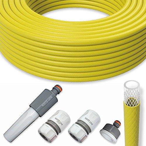 Gartenschlauch Wasserschlauch Schlauch Set 12 Zoll 50m mit Armaturen Gelb