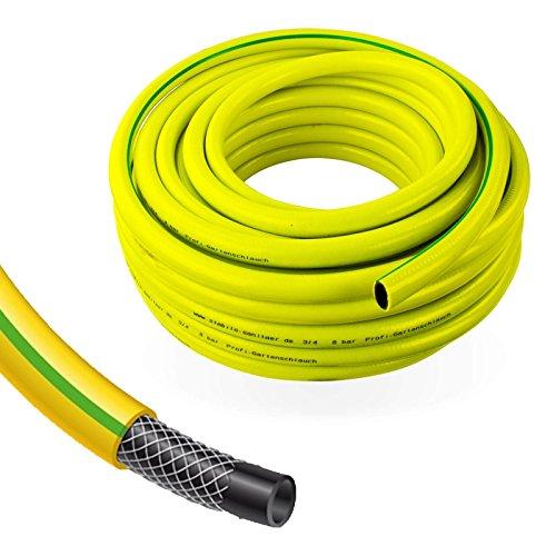 Stabilo-Sanitaer Profi Gartenschlauch Durchmesser 13mm 12 Zoll Länge 50m  3-lagiger Wasserschlauch Gelb  Qualitätsschlauch  Allzweckschlauch